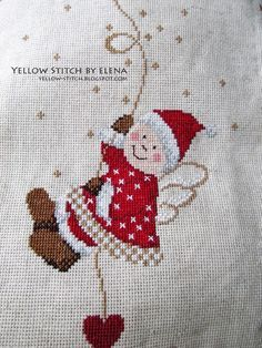 Cross Stitching, Cross Stitch Embroidery, Embroidery Patterns, Cross Stitch Designs, Cross Stitch Patterns, Loom Patterns, Cross Stitch Angels, Theme Noel, Christmas Embroidery