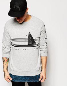 Image 1 ofASOS Sweatshirt With Panama Print