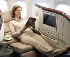 First class seating on a long flight!