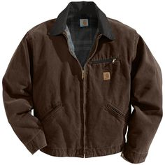 Carhartt Men's Sandstone Detroit Jacket (Dark Brown, Size XX Large) - Men's Work Apparel, Men's Work Jackets at Academy Sports Cool Outfits, Casual Outfits, Fashion Outfits, Men Casual, Carhartt Jacket, Carhartt Detroit Jacket, Barbour Jacket, Grunge Outfits, Look Cool