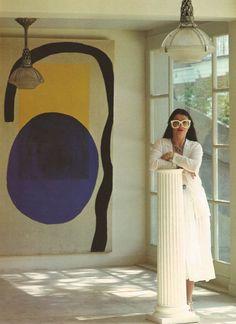 painting blue+yellow+black - designer emmanuelle khanh standing at the pillar, Painting Inspiration, Art Inspo, Design Inspiration, Moodboard Inspiration, Art Direction, Contemporary Art, Art Photography, Abstract Art, Illustration Art