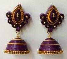 Paper quilling jhumka