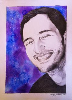 "Jason Silva, 11""x15"", Graphite and Watercolor on BFK rives paper, 2014"