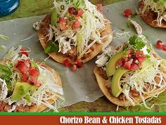 The chorizo flavor beans are amazing, and they make a chicken tostada even better!!