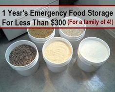 1 Year Emergency Food Storage For A Family Of 4 For Less Than $300