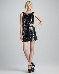 Irena Sequined Shift Dress by Rachel Zoe at Bergdorf Goodman.
