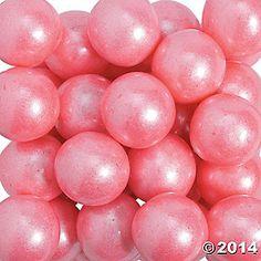 Shimmer Bright Pink Large Gumballs