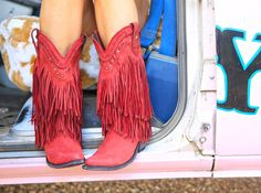 our RAMBLER FRINGE boot in CrimSon that inspired the most amazing chair for our PBteen Collection!!!! be on the lookout!