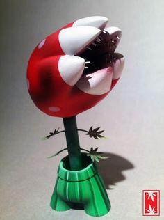 "SpankyStokes.com   Vinyl Toys, Art, Culture, & Everything Inbetween: Ian Ziobrowski's Super Mario Bros. ""Potranha"" custom Foomi!"