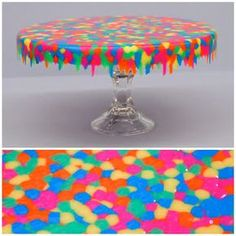 Melted Pony Bead Cake Stand ...Ben Franklin Crafts and Frame Shop, Monroe, WA: