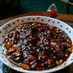 Plum sauce (Aaloo bukharay ki chutney) ... it has rich texture and sweet and sour taste... A must try...