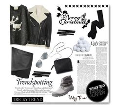 """""""ugly christmas sweater"""" by tsungie ❤ liked on Polyvore featuring Golden Goose, Melissa, Palladium, Topshop, 3.1 Phillip Lim, Tag and Ray-Ban"""