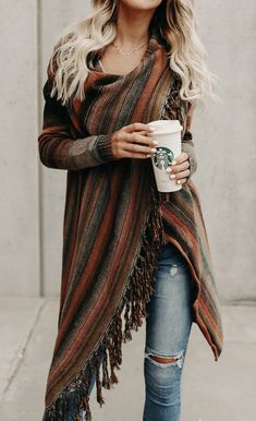 Sale $$$! Discounts! Get ready for Spring Fashion! Find fashionable outfits for the new season. 2018 Newest Single Button Tassel Asymmetrical Hem Shawl