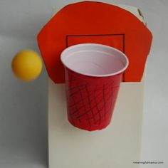 Sports activities for kids, basketball crafts, basketball games Vbs Crafts, Camping Crafts, Crafts For Kids, Family Crafts, Craft Kids, Kids Diy, Basketball Crafts, Basketball Games, Basketball Court