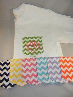 Chevron Pocket Monogrammed Tshirts