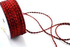 Corde & Cordoncini - Cordoncino Decorativo Rosso mt.20 - un prodotto unico di raffasupplies su DaWanda