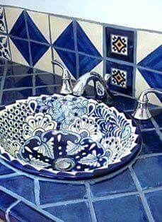 Azules. #cocinasrusticasazulejos