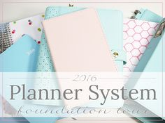 2016 Planner System Foundation by Label Me Merrit