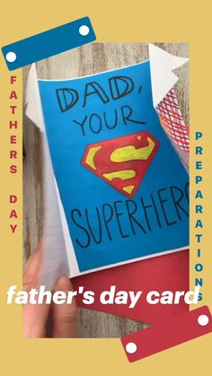 Free Fathers Day Cards, Fathers Day Crafts, Paper Crafts For Kids, Fun Crafts, Easy Art For Kids, Best Teacher Gifts, Art Activities For Kids, Art Drawings For Kids, Father's Day Diy