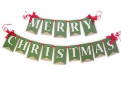 Merry Christmas Burlap Banner Merry Christmas from JacqsCraftyCorner! Our handmade Holiday Banners are layered with medium weight smooth cardstock and burlap, each embellished with antique gold glitte