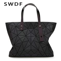 SWDF Women PU Leather Shoulder Bag Geometric Luminous Diamond Bags Women  Lattice Messenger Bags Luxury Handbags Women Designer fcb1ce02c1