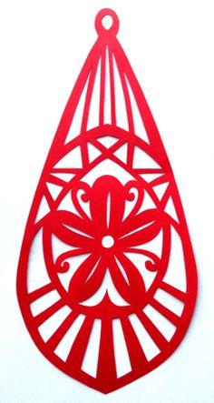 cut paper design Blossom Earring