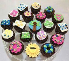 Fun in the sun summer time cupcakes