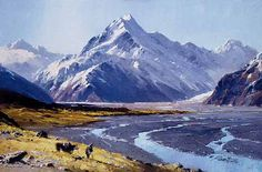 To the South Island, Mt Cook: