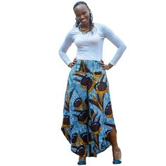 We love how the cut of these pants adds a bold but feminine touch. Flare Pants, Mosaic, Dress Up, Feminine, Touch, Stylish, Fitness, Skirts, Cotton