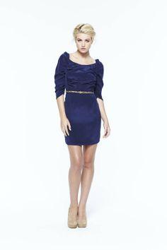 paper crown: augusta dress #navy