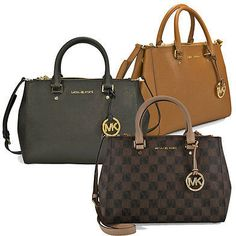 Michael Kors Sutton Saffiano Leather Medium Satchel Handbag - Several Styles on shopstyle.com