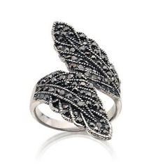 Double Leaf Alloy Alloy with White Gold
