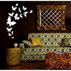Samolepka motýle zrkadlo silver. Rozmer 45x45cm  Kód: SV000003S -VER  Stav: Nový produkt  Dostupnosť: Skladom  Zrkadlové samolepky a nálepky sú krásnou dekoráciou interiéru. Môžu poslúžiť ako zrkadlo a zároveň oživia stenu Vášho domu či bytu. Wall Decor Stickers, Mirror Wall Stickers, Living Room Bedroom, Bedroom Decor, Mirror Wall Clock, Dining Room Office, Butterfly Wall Decor, Wall Decor Quotes, Butterfly Shape