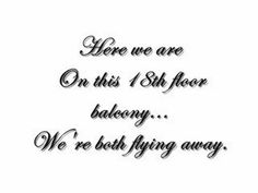 Blue october song quotes quotesgram for 18th floor balcony blue october lyrics