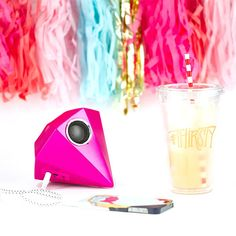 Add a pop of color + a giant gem when you pick up this speaker.