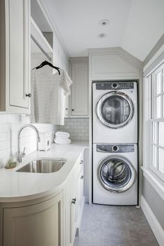 "Get terrific recommendations on ""laundry room stackable washer and dryer"". They are accessible for you on our site. room design stackable Glencoe West — Edward Deegan Architects above washer and dryer small laundry rooms Modern Laundry Rooms, Laundry Room Layouts, Laundry Room Shelves, Laundry Room Remodel, Laundry Decor, Laundry Room Organization, Laundry Room Design, Narrow Laundry Rooms, Small Narrow Bathroom"
