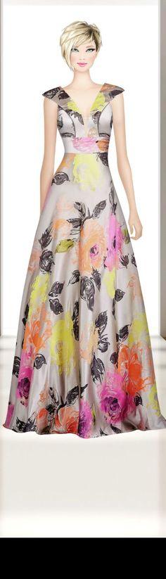 Cute Floral Dresses, Vintage Style Dresses, Simple Dresses, Grey Evening Dresses, Summer Dresses, Formal Dresses, African Fashion Dresses, Fashion Outfits, Paris Mode
