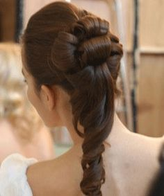 bridal haistyle #long hair #updo