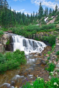 Yankee Boy Basin Middle Falls located near Ouray, Colorado