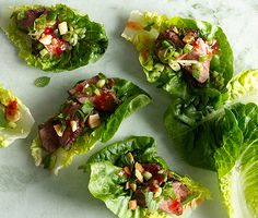 Seared Steak Lettuce Cups work for both Phase 2 and Phase 3 (omit the peanuts and Asian sweet chili sauce at the end).