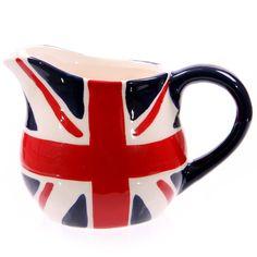 Ceramic Union Jack Milk Jug