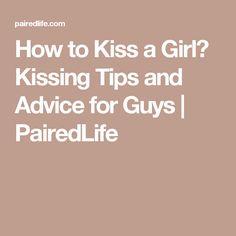 best kissing tips for guys