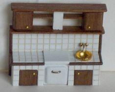 ••  Francesca Vernuccio Miniatures:  MUEBLES PARA ESCALA 144.  tiled kitchen fornitures 1