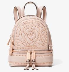 4aab6d99bd44b MICHAEL Michael Kors Rhea Mini Rose Studded Leather Backpack
