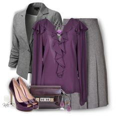A fashion look from October 2014 featuring Hanita blouses, Akris skirts and Sonoma Lavender pumps. Browse and shop related looks.