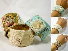 Covered with fabric cuff
