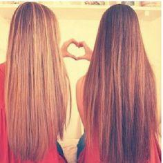 Every blonde girl needs a brunette best friend. :)