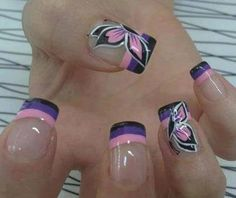 Wonderful Nail Art For Girls is all about new stylish top trendy trends.here i am going to post some wonderful and stylish nail art for girl. Fancy Nails, Cute Nails, Pretty Nails, My Nails, Pink Nails, Black Nails, Fabulous Nails, Gorgeous Nails, Amazing Nails