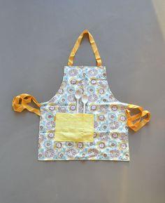 full reversible kitchen apron floral cotton by xxxRedStitcHxxx