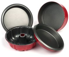Elite Bakeware 4 Piece NonStick Cake Pans Set with 9 Inch Round Cake Pans, 9 Inch Springform Cake Pan and 10 Inch Bundt Cake Pan - Easy Cake Release NonStick Technology. Lifetime Guaranteed.  Exclusively sold on Amazon.com